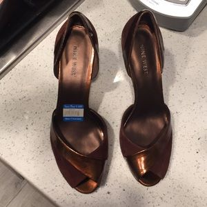 Woman's Nine West Brown High Heels Size 9